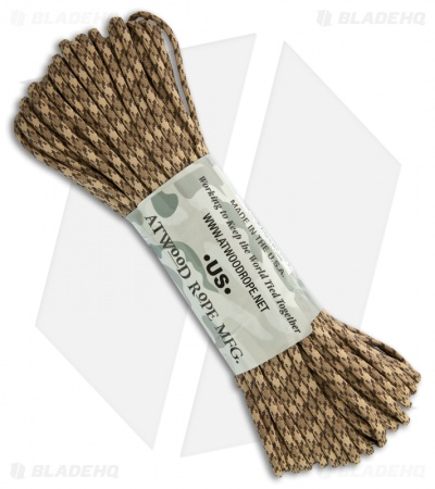 Rattler 550 Paracord Nylon Braided 7-Strand Core (100') USA