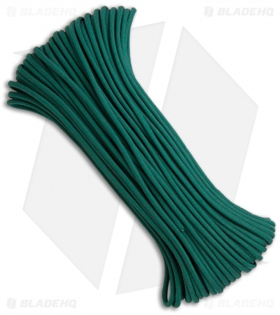 Teal 550 Paracord Nylon Braided 7-Strand Core (100') USA