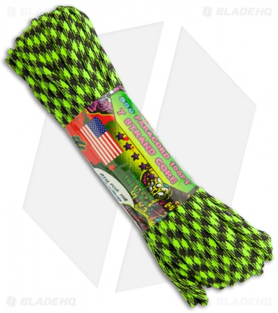 Zombie Edition Outbreak 550 Paracord Nylon Braided 7-Strand Core (100') USA