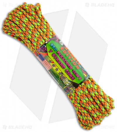 Zombie Edition Virus 550 Paracord Nylon Braided 7-Strand Core (100') USA