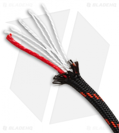 100' Thin Red Line 550 FireCord Paracord Nylon Braided 7-Strand + Tinder Core