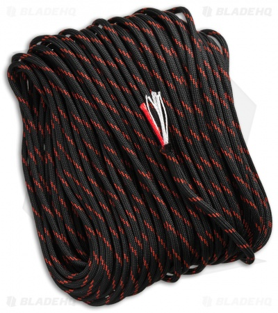 50' Thin Red Line 550 FireCord Paracord Nylon Braided 7-Strand + 1 Tinder Core