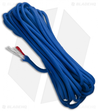 25' Royal Blue 550 FireCord Paracord Nylon Braided 7-Strand + 1 Tinder Core