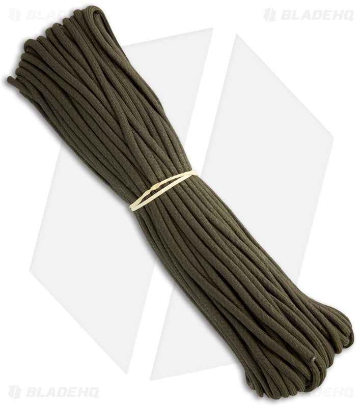 550 Paracord 100/' Nylon Survival Cord SAFETY GREEN 7 Strand MADE IN THE USA