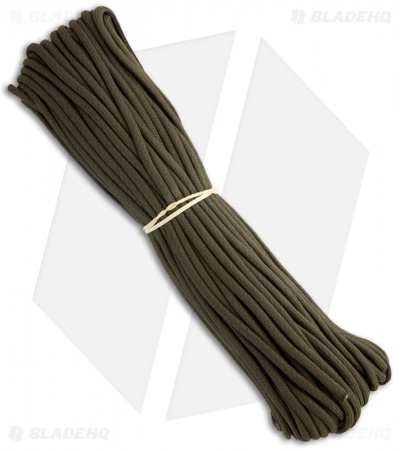 OD Green 550 Paracord Nylon Braided 7-Strand Core (100') USA
