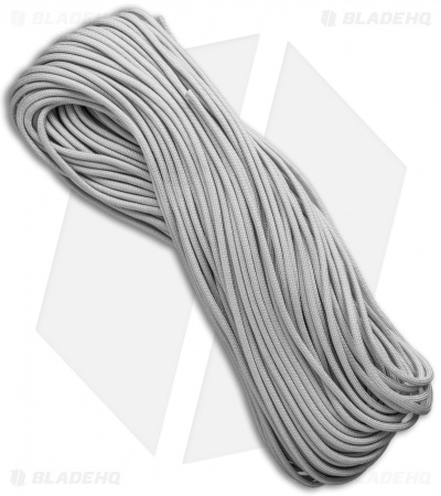 E.L. Wood Braiding 550 Paracord Silver/Gray (100') USA