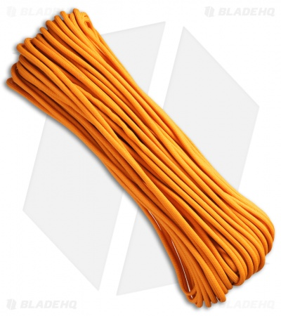 550 Lb. Paracord 100 Ft. 7 Strand Core (Air Force Gold) RG1118H