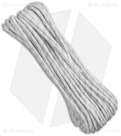 550 Lb. Paracord 100 Ft 7 Strand Core (White)