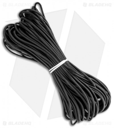 Blackout 550 Paracord Black Inner 7-Strand Core (100') USA BHQ Exclusive
