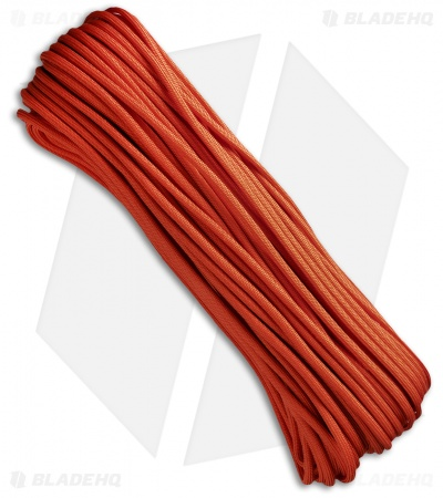 Burnt Orange 550 Paracord Nylon Braided 7-Strand Core (100') USA