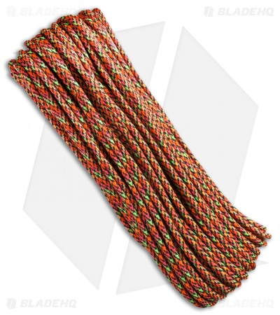 Rust 550 Paracord Nylon Braided 7-Strand Core (100') USA