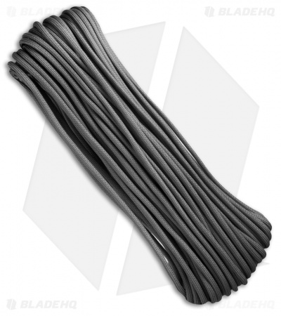 Graphite 550 Paracord Nylon Braided 7-Strand Core (100') USA