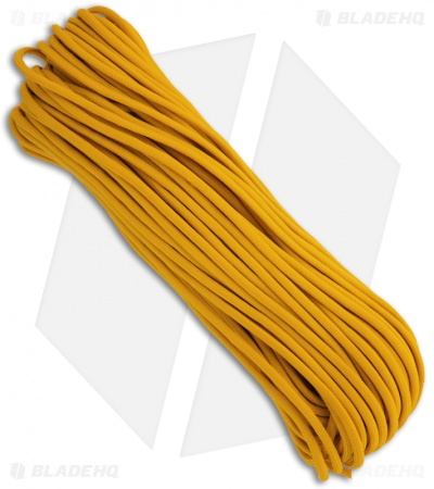 Mustard  550 Paracord Nylon Braided 7-Strand Core (100') USA