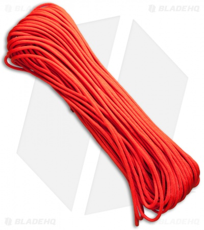 PrepCord Neon Orange 550 Paracord w/ Fishing & Jute Cord (100') BHQ Exclusive