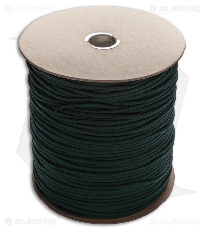Spool of Hunter Green 550 Paracord Nylon Braided 7-Strand Core (1000') USA