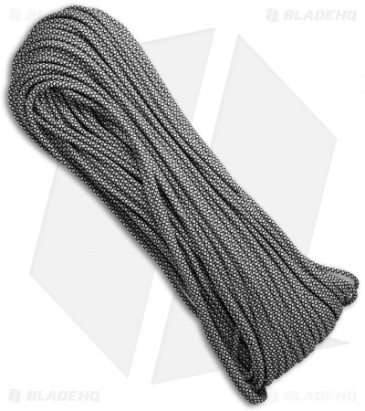 EL Wood Braid 550 Paracord Silver Diamond (100') USA