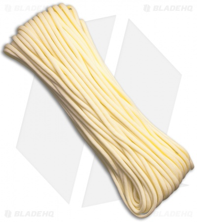 E.L. Wood Braiding Paraglow Cord 7 Strand Core Light Yellow (100') USA