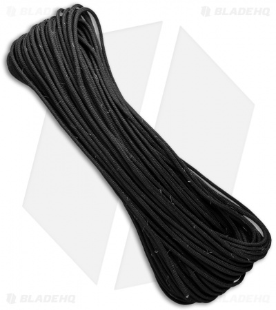PrepCord Blackout 550 Paracord w/ Fishing Line & Jute Cord (100') USA