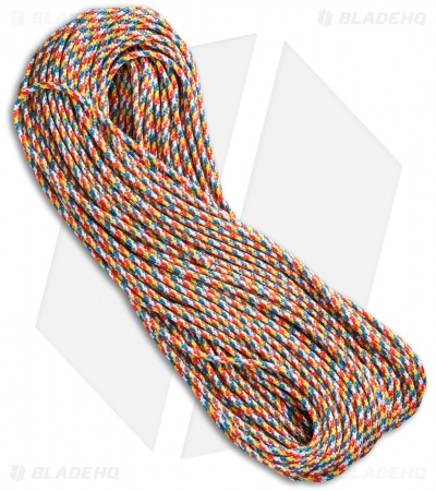 Rainbow Nylon Braided 350 Cord Paracord (100')