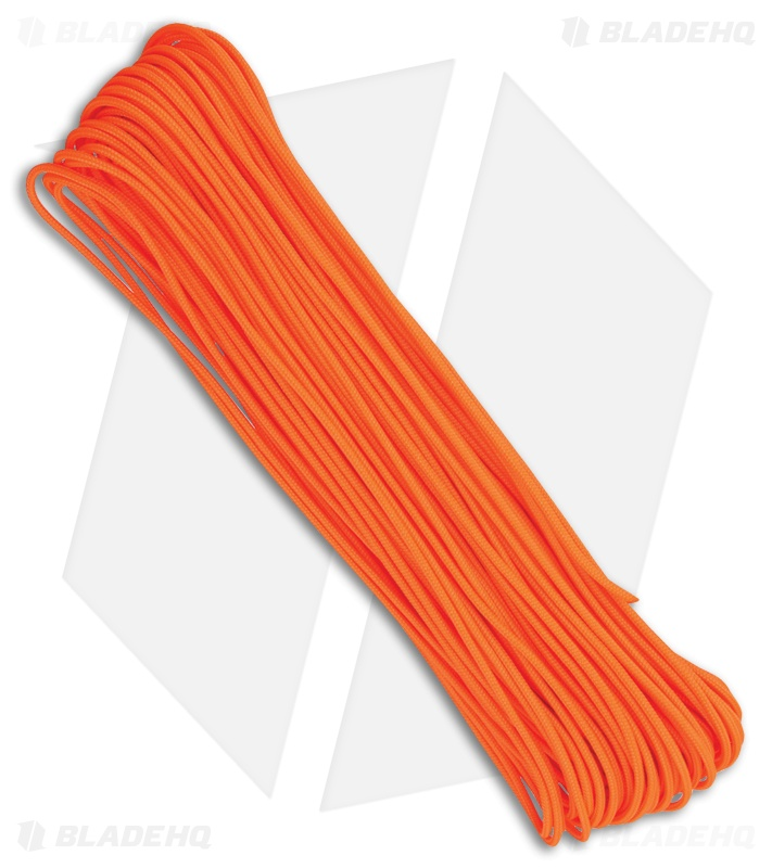 Tactical Nylon Braided 275 Neon Orange Paracord (100')