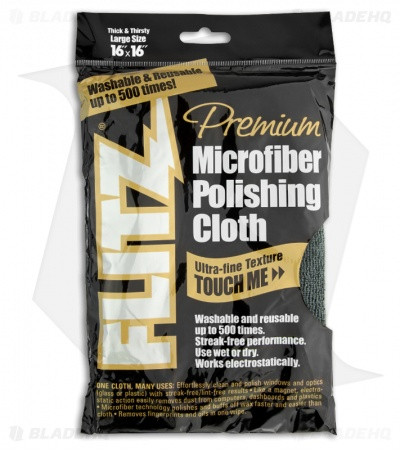 Flitz Premium Microfiber Grey Polishing Cloth Towel (Thick 'n Thirsty)