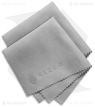 "Kizer Cutlery Premium 8"" x 8"" Polishing Cloth (Set of 2)"