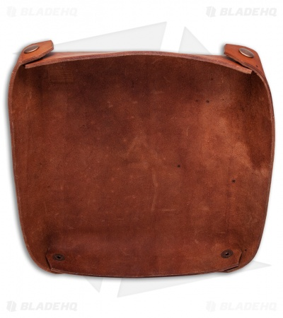 Fire Hall Knife & Leather Light Brown Leather Valet Tray
