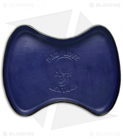 Bad Love Leather Mini Valet Tray - Blue/Black Leather