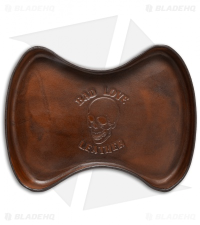 Bad Love Leather Mini Valet Tray - Brown Leather