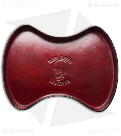 Bad Love Leather Red/Black Leather Valet Tray