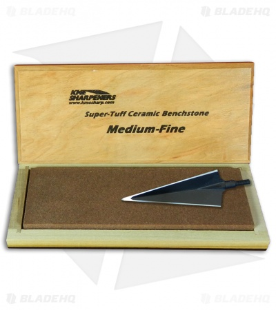 "KME Sharpeners ""Super-Tuff"" Bench Ceramic Sharpening Stone - Medium/Fine Grit"