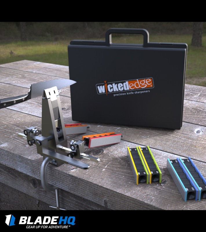 wicked edge field u0026 sport pro portable knife sharpening kit we210 - Knife Sharpeners