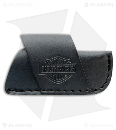 Case Harley-Davidson Side Draw Black Leather Sheath 52100