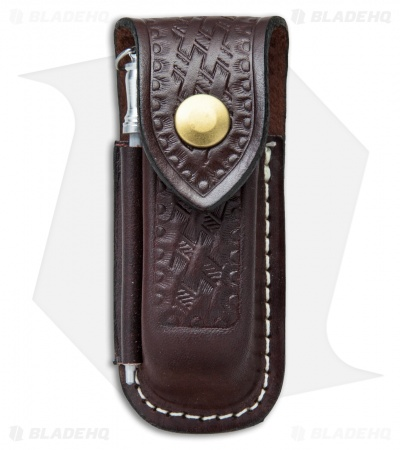 Victorinox Zermatt Large Brown Leather Belt Sheath  w/ Sharpening Steel 33208