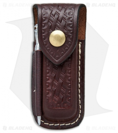 Victorinox Zermatt Medium Brown Leather Sheath w/ Sharpening Steel Rod 33204