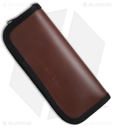 WE Knife Co. Leather Zippered Pouch (Brown) A-04