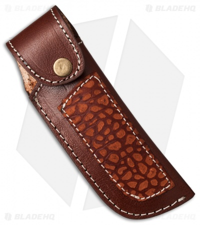 "Venture 7.5"" V114E Leather Fixed Blade Belt Sheath Brown"