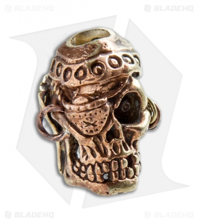Andre de Villiers AdV Pirate Skull Bead - Brass/Copper