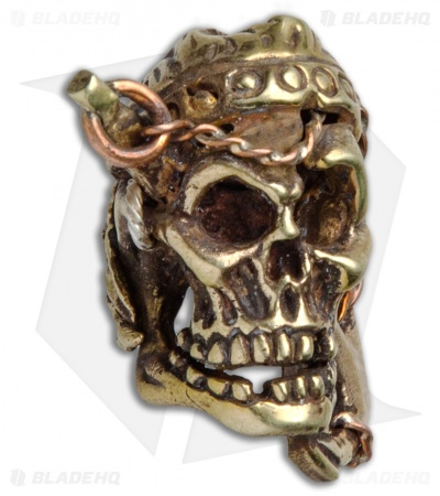 Andre de Villiers AdV Large Anchor Pirate Skull Bead - Brass/Copper