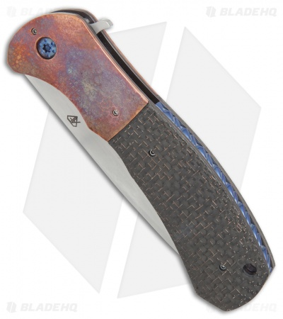 "Aaron Fredrick Custom FS-1 Flipper Knife LSCF/Copper (3.9"" Satin)"