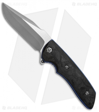 "Allen Elishewitz Custom M2 Flipper Knife Black Pearl CF (3.75"" S90V Core)"