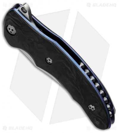 "Allen Elishewitz Custom Silver Fox Knife Black Pearl CF (3.75"" S90V Core)"