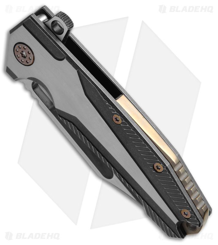 Andre De Villiers Mid Tech Beast Flipper Knife Black