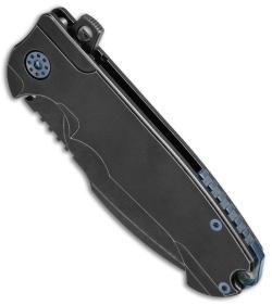 Andre De Villiers Milspec Harpoon Knife Black W Blue Hw