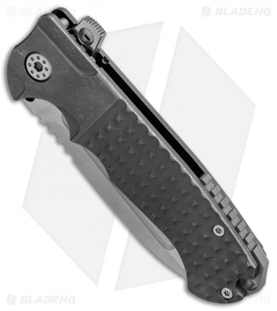 "Andre de Villiers Pathfinder Gen 2 Knife Gray BB Square (3.75"" Satin) AdV"