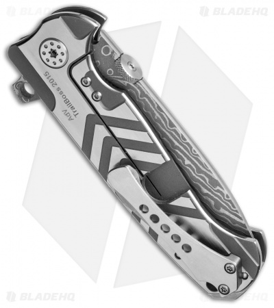 "Andre de Villiers TrailBoss Knife Arrow Titanium (3.875"" Damascus) AdV"