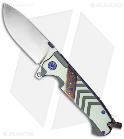 "Andre de Villiers TrailBoss Knife Arrow Titanium/Mokuti (3.875"" Satin) AdV"