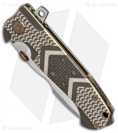 Andre De Villiers Custom Harpoon Knife LSCF/Fish Scale (Satin) AdV