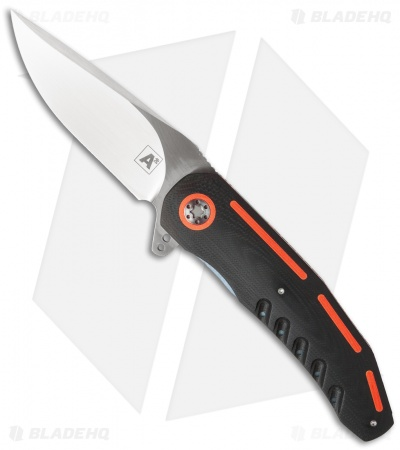 "A2 Andre Thorburn/Van Heerden A3-3D Flipper Knife Black/Orange G10 (3.75"" Satin)"