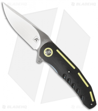 "A2 Andre Thorburn/Van Heerden A3-3D Flipper Knife Black/Yellow G10 (3.75"" Satin)"